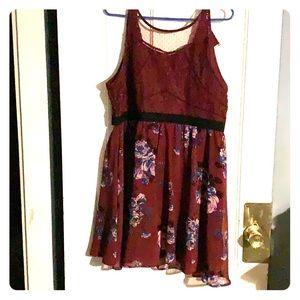 Berry floral dress